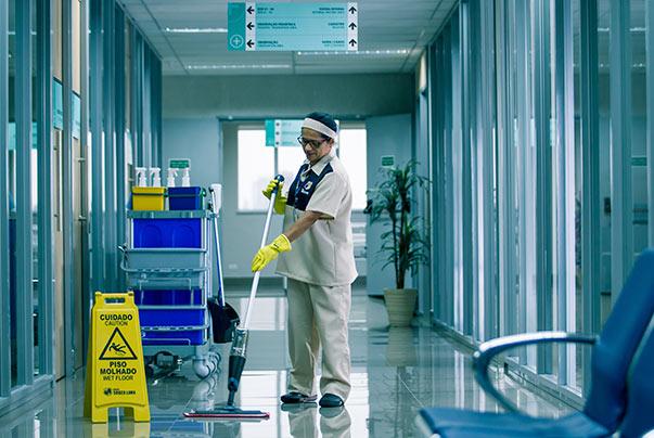 Limpeza em Hospitais